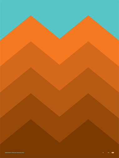 Thick Lines - Peaks - Poster