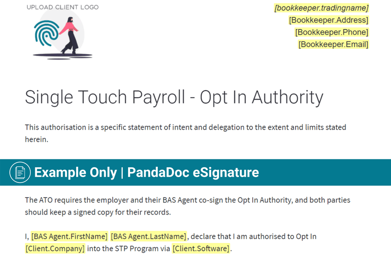 Single Touch Payroll | EOFY Finalisation Authority (STP) | Authorisation to Act