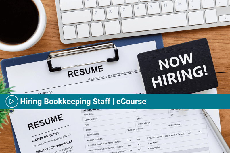 Hiring Bookkeeping Staff | eCourse + Templates | Advertise and Hire Using Seek