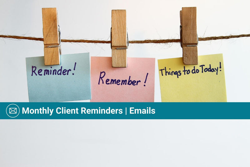 Monthly Client Reminders | Basic Template | Email Template