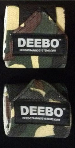 Camo Weightlifting Wrist Wraps