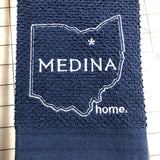 Medina Ohio Custom Embroidered Hand Towel