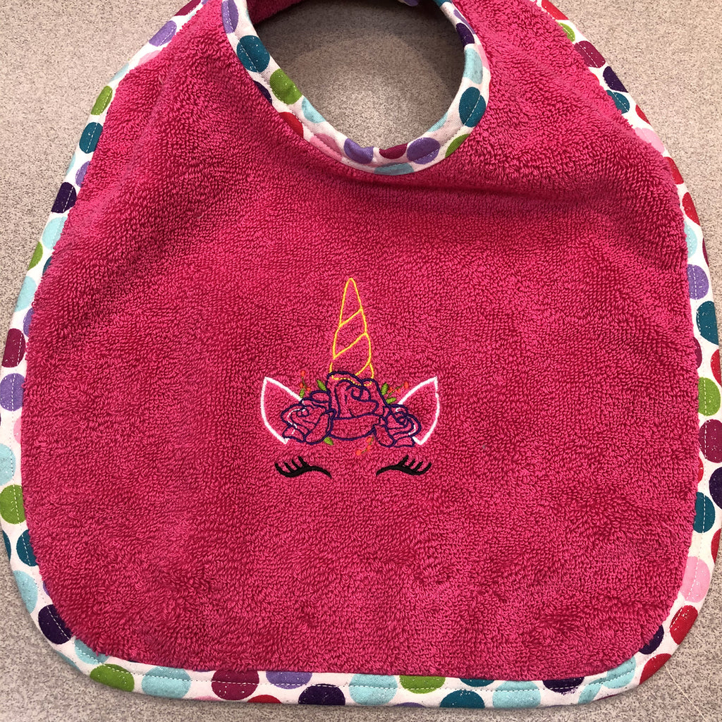 Bibs By Viv Unicorn Custom Embroidered Baby Bib