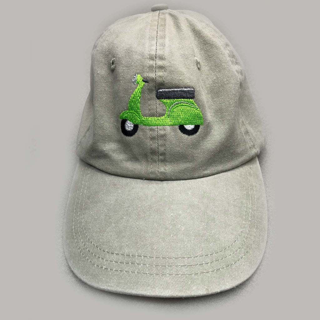 Green Scooter Custom Embroidered Hat