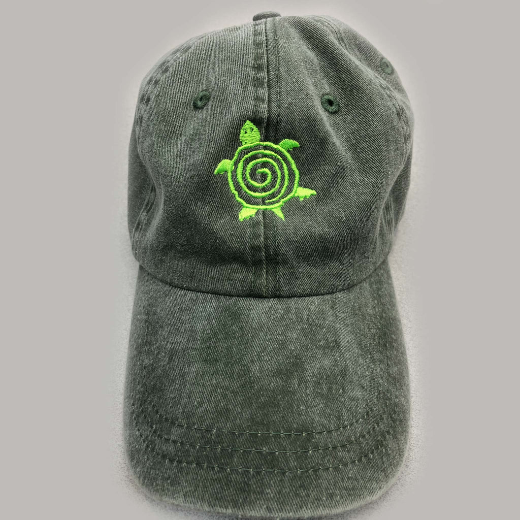 Green Turtle Custom Embroidered Hat