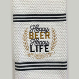 Hoppy Beer Hoppy Life Custom Embroidered Hand Towel