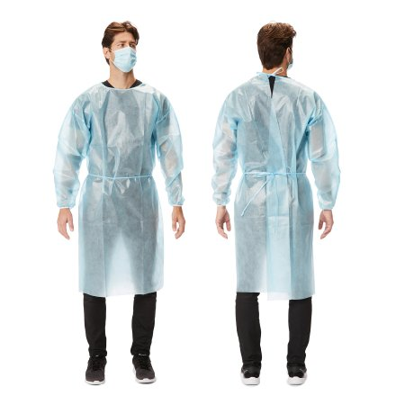Protective Procedure Gown NonSterile AAMI Level 1 Disposable