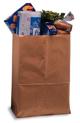 "12"" x 7"" x 17"" Kraft Carry Paper Bag"