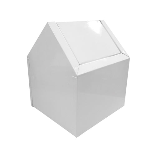 Swing Type Double Entry White Metal Receptacle
