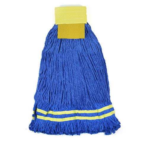 MicroWORKS® MICROFIBER STRING MOP WITH SCRUBBER PAD 22 OZ. (2504-MFWP-22)
