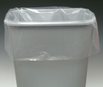 "15"" x 9"" x 32"" Linear Low Density Gusseted Poly Liner - (.8 mil)"