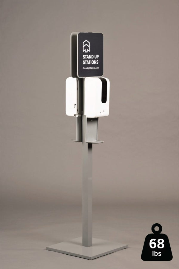 Double Sided – Premium Sanitizer Station Package