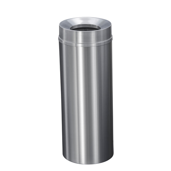 Waste Receptacle - Satin Aluminum - Funnel Opening