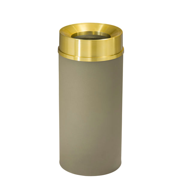 Waste Receptacle - Nickle/Satin Brass - Funnel Opening