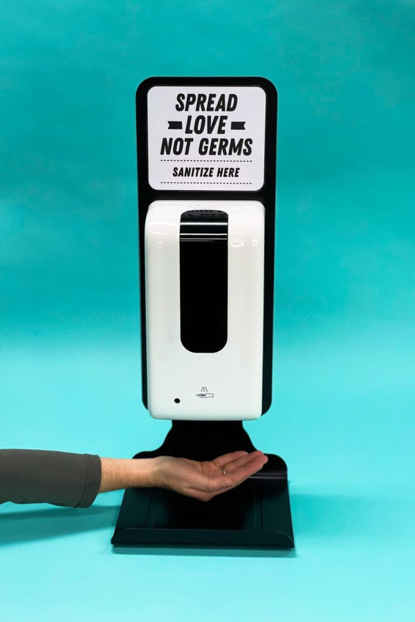 Table-Top Sanitizer Station Package (Premium Vinyl Sticker + Design Services)