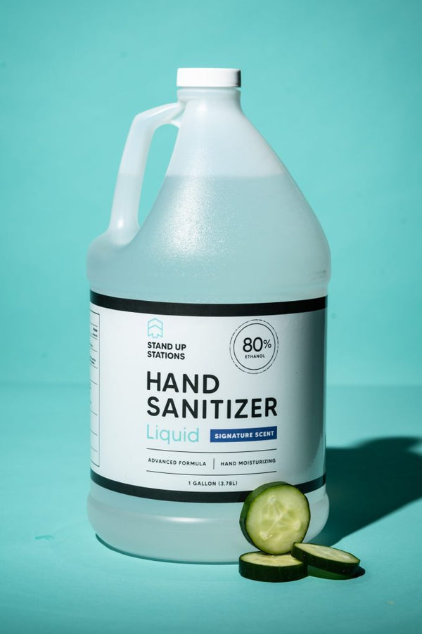 Liquid Hand Sanitizer – Cucumber Scent (1 Gallon)