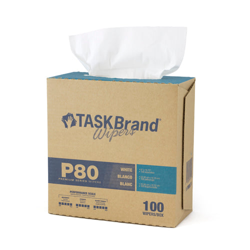 "TASKBRAND P80 PD HYDROSPUN, 9""X16.75"", INTERFOLD, DISPENSER, WHITE, 100/DISP, 4DISP/CS (N-P080IDW)"