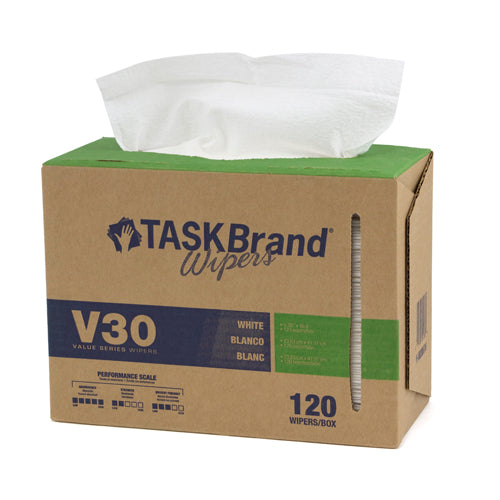 "TASKBRAND V30 LW DRC, 9""X16.5"", INTERFOLD, DISPENSER, WHITE, 120/DISP, 6DISP/CS (N-V030IDW)"
