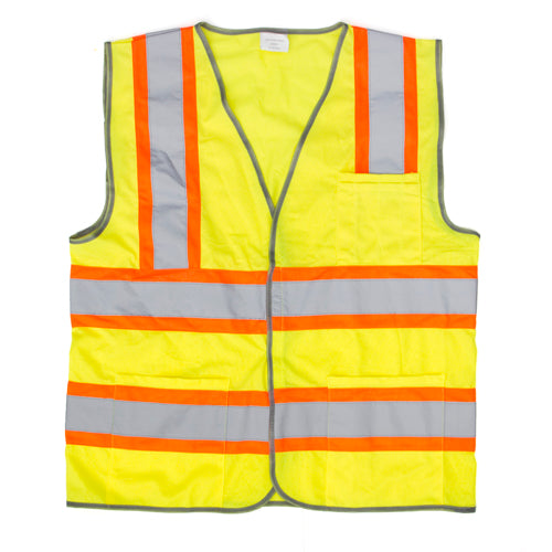 ProWorks Reflective Safety Vests, Class II Rated - Solid