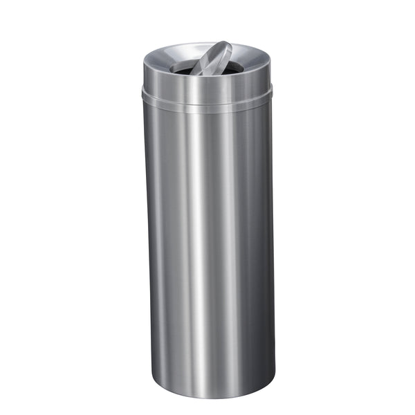 Waste Receptacle - Satin Aluminum - Tip Action Opening
