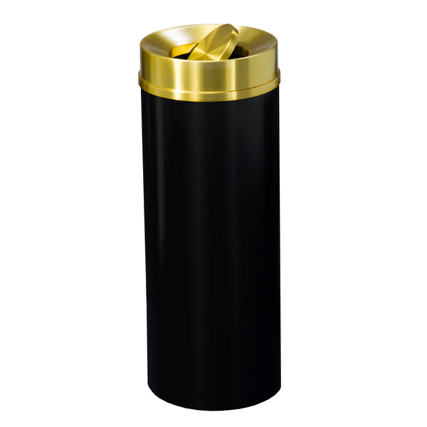 Copy of Waste Receptacle - Black & Satin Brass -Tip Action