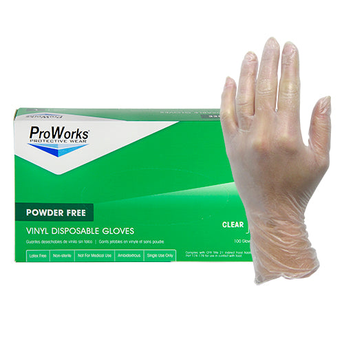 ProWorks Vinyl Clear Powder Free Gloves (GL-V103F)