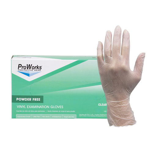 ProWorks Vinyl Exam Grade Powder Free Gloves (GL-V104F)