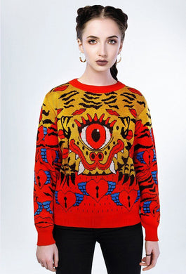 Behind the scenes Bali Tiger sweater