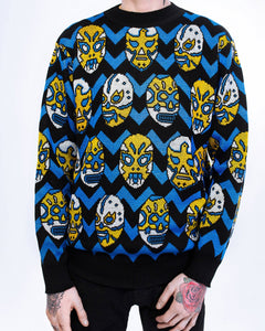 Behind the scenes Lucha Libre sweater