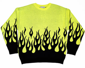 Behind the scenes Neon Flame sweater