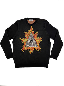 Behind the scenes Illuminati sweater
