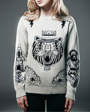 Load image into Gallery viewer, Behind the scenes White Tiger sweater