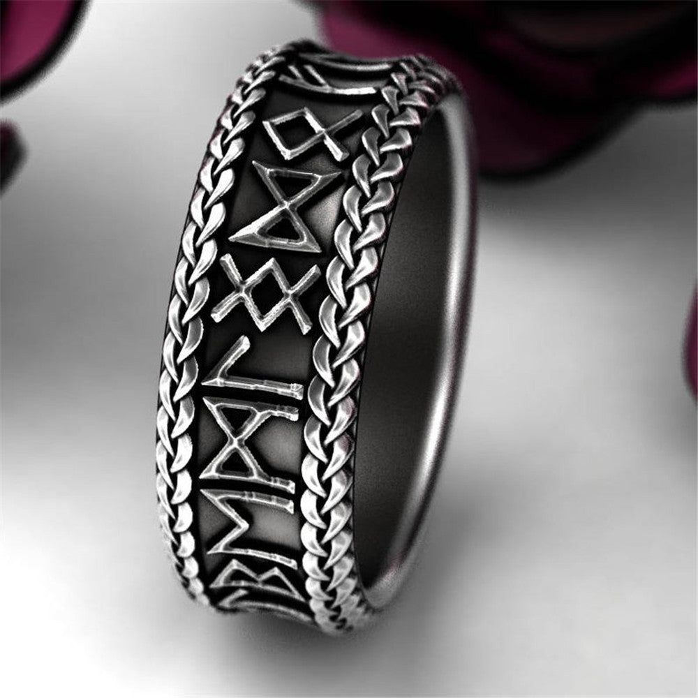 Vintage jewelry rune ring party cool accessories unisex unique gift motorcycle ring