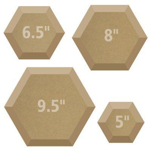 HEXAGONAL DRAPE MOLD SET (4)