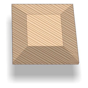 "SQUARE DRAPE MOLD 15 x 1.2"" (PS383)"