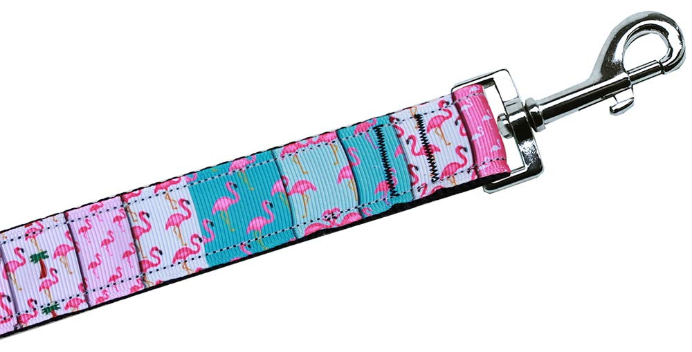 Flamingo Fun Beach Style Nylon Dog Leash 5/8in by 6ft
