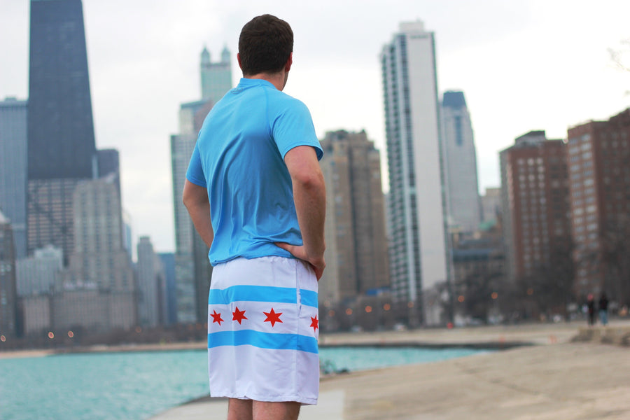 Men's Chicago Flag Athletic Shorts