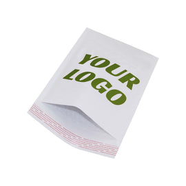 9.5x13.5 Printed White Kraft Bubble Mailers 100 pcs - Customized - ZebraBoxes.com
