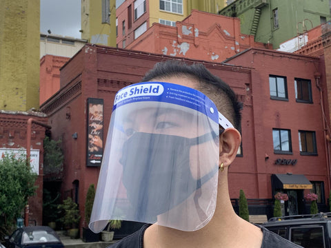 Face Shield - Blue trim