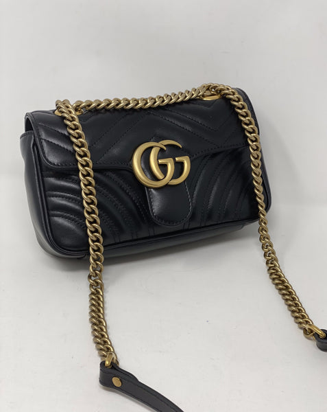 Gucci Black Marmont Flap