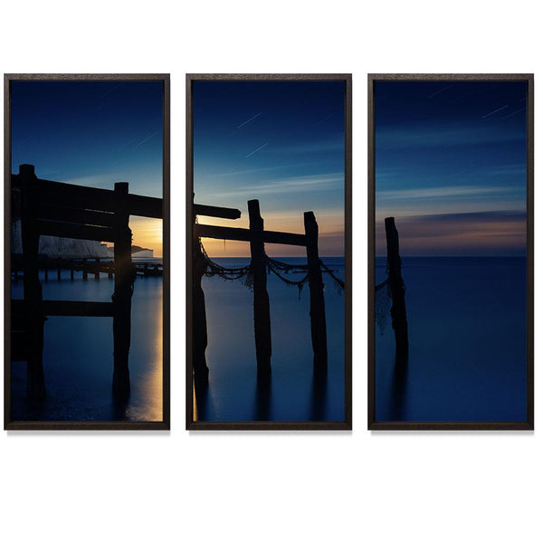 "00:01 Triptych Smith & Co Galleries 74"" x 50"" Modern Wood 5mm Luxe Floated - Strivezy"