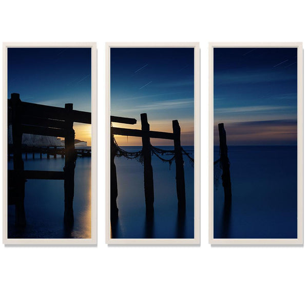 "00:01 Triptych Smith & Co Galleries 74"" x 50"" White 5mm Luxe Floated - Strivezy"