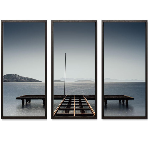 "11:59 Triptych Smith & Co Galleries 74"" x 50"" Modern Wood 5mm Luxe Floated - Strivezy"