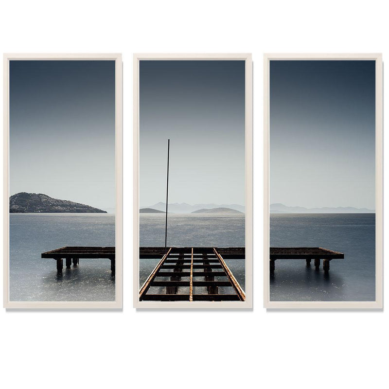 "11:59 Triptych Smith & Co Galleries 74"" x 50"" White 5mm Luxe Floated - Strivezy"