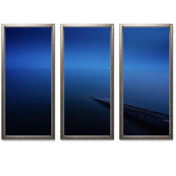 "20:37 Triptych Smith & Co Galleries 74"" x 50"" Warm Silver 5mm Luxe Floated - Strivezy"