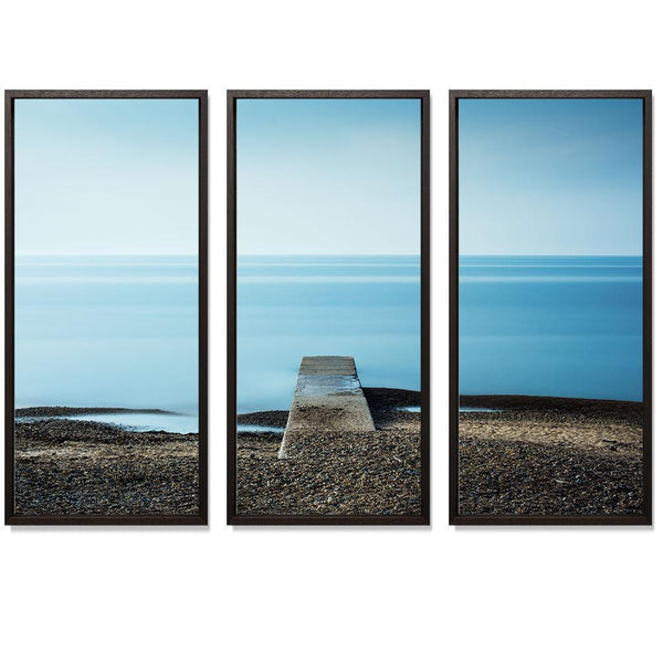 "23:27 Triptych Smith & Co Galleries 74"" x 50"" Modern Wood 5mm Luxe Floated - Strivezy"