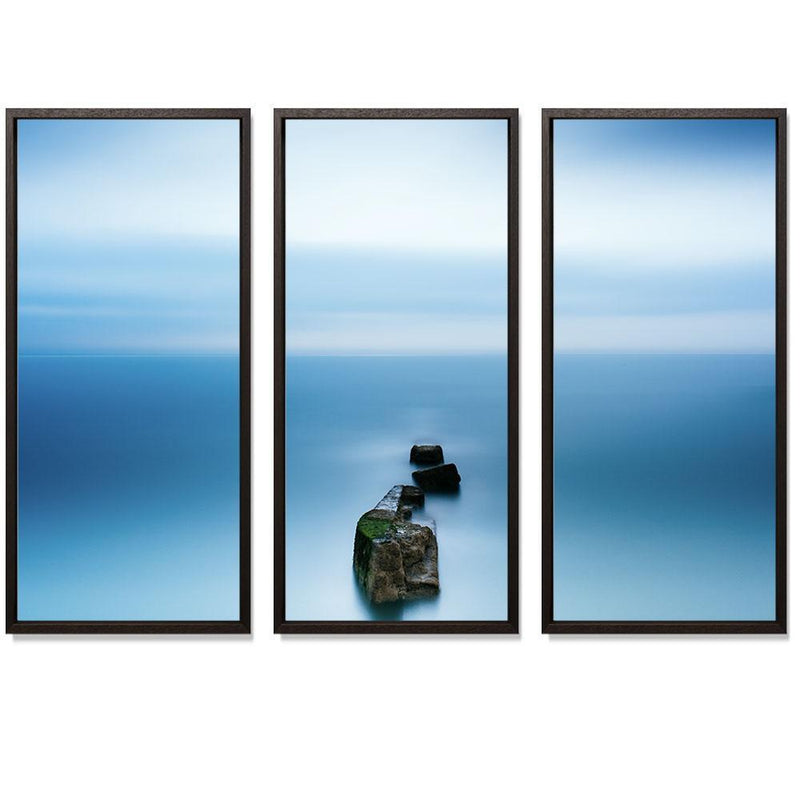 "23:44 Triptych Smith & Co Galleries 74"" x 50"" Modern Wood 5mm Luxe Floated - Strivezy"