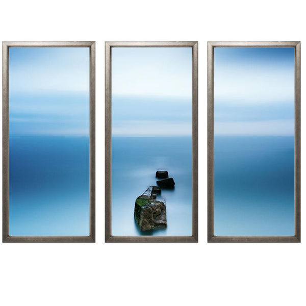 "23:44 Triptych Smith & Co Galleries 74"" x 50"" Warm Silver 5mm Luxe Floated - Strivezy"