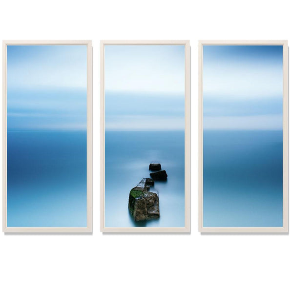 "23:44 Triptych Smith & Co Galleries 74"" x 50"" White 5mm Luxe Floated - Strivezy"