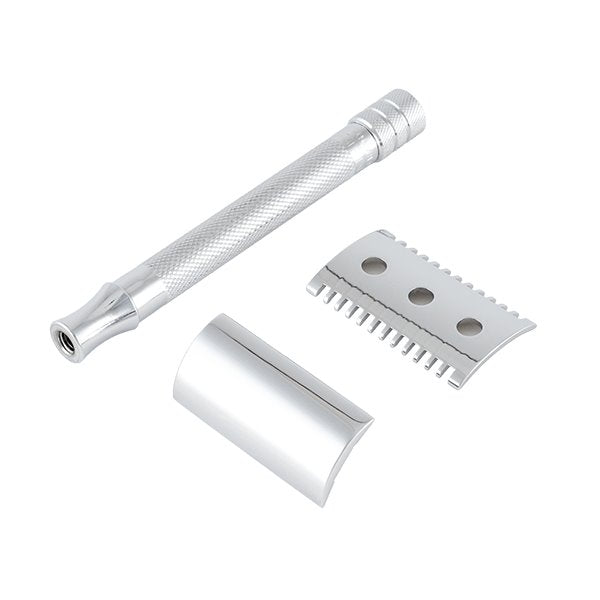 Merkur | 25C Double Edge Safety Razor | Open Comb, Extra Long Handle | Strivezy | Shaving Accessories | Razor
